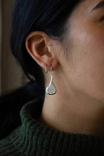 Teardrop Koru Earrings