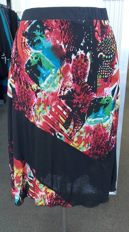 Duracchi A-Line Print Skirt