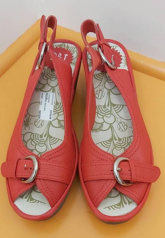D&J New Red Sling Back Sandal