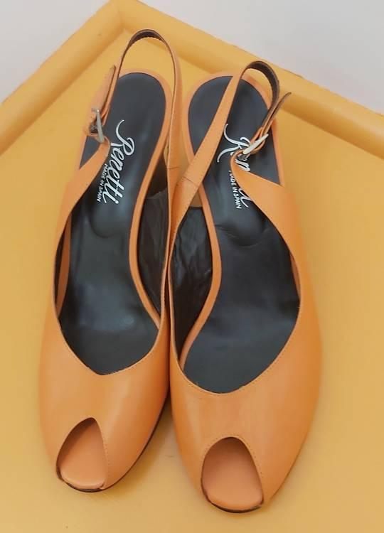 Renetti Orange Sling Back Sandal