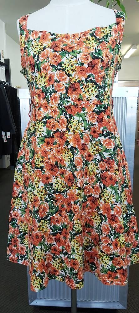 Lindy Bop Flower Print Dress