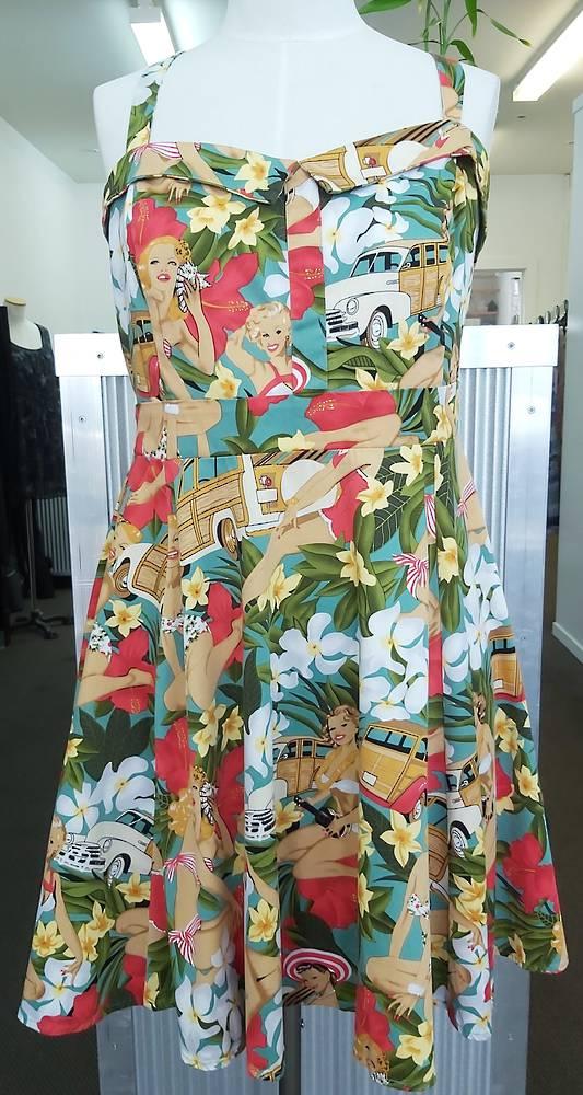 Miss Lulo Cross Back Dress