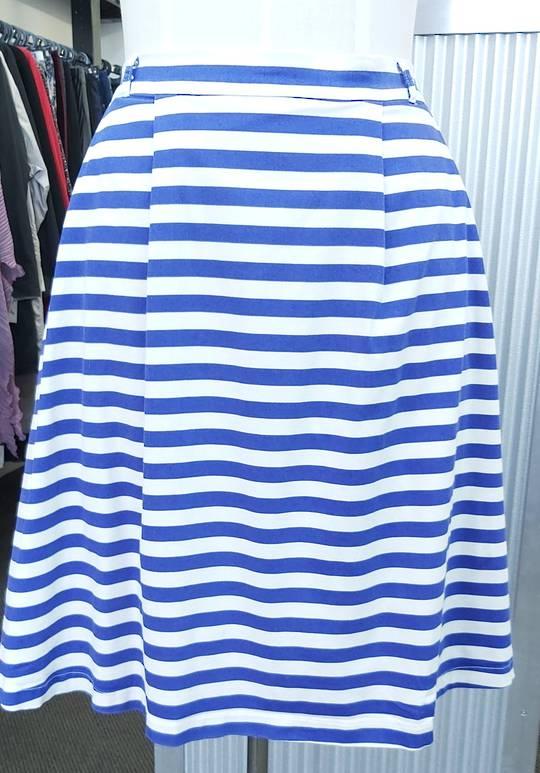 Modcloth Stripe Skirt Lined