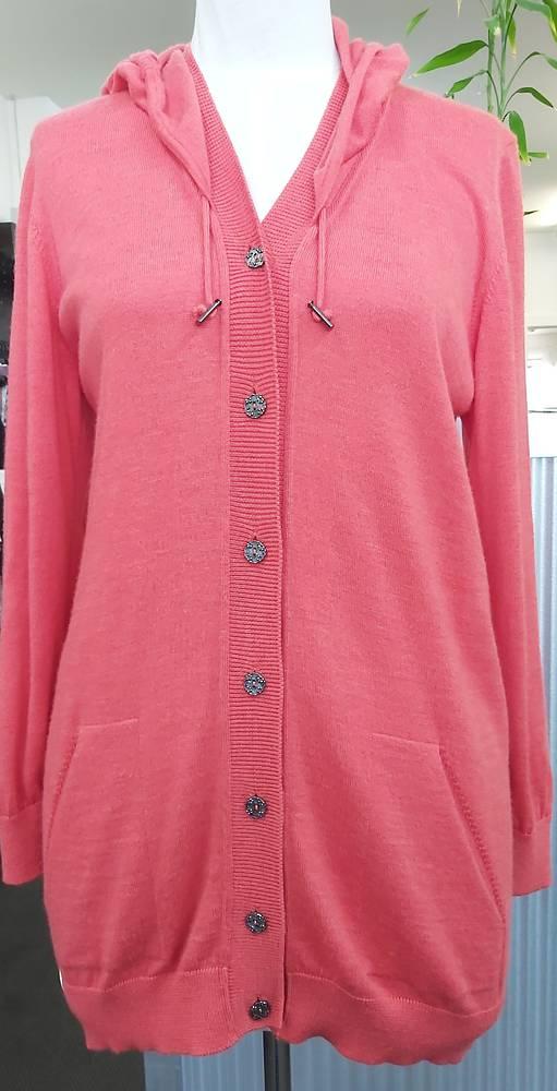 Optimum Knitwear Hooded Merino Cardigan