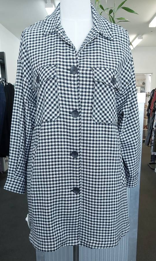Zara Check Dress Coat