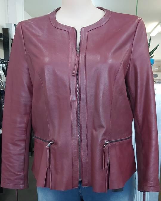Capture Leather Dress Jacket Merlot