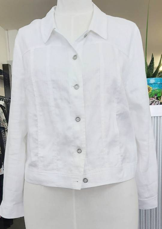 Jacqui  E Linen Jacket
