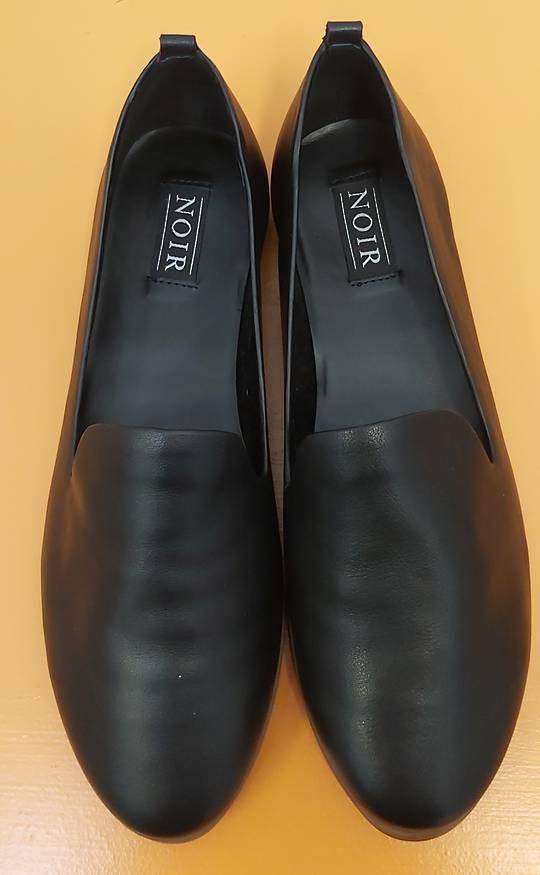 Noir Leather Loafer