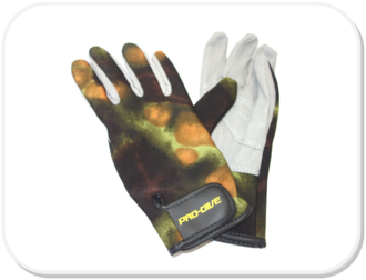 Performance Diver Camo Gloves