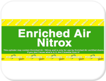 PD Enriched Air/Nitrox Stickers