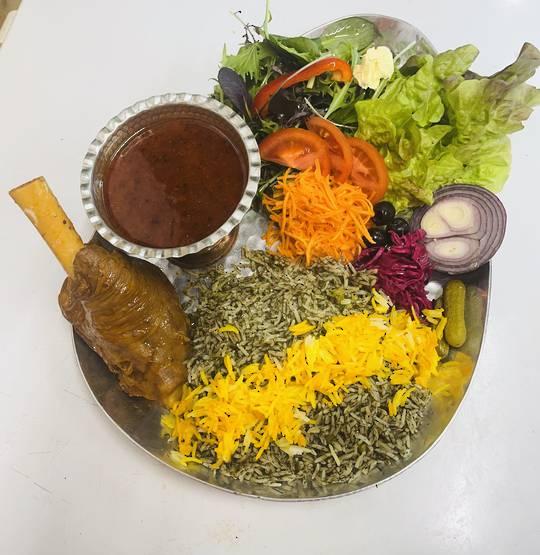 Baghali polo with lamb shanks ماهیچه