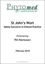 WEBINAR NOTES St John's Wort - Safety Concerns in Clinical Practice - Phil Rasmussen