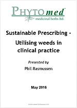 WEBINAR NOTES Sustainable Prescribing Habits - Utilising weeds in  clinical practice