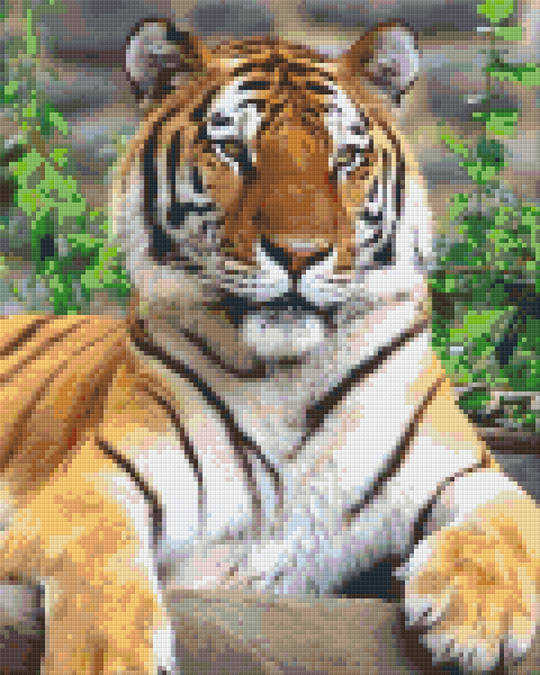 Siberian Tiger Nine [9] Baseplate PixelHobby Mini-mosaic Art Kits