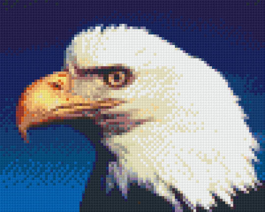 Bald Eagle Four [4] Baseplate PixelHobby Mini-mosaic Art Kit