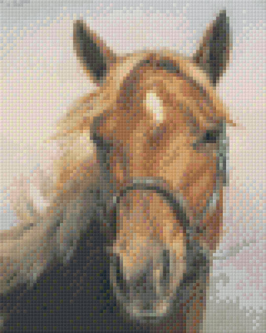 Quarter Horse Four [4] Baseplate PixelHobby Mini-mosaic Art Kit