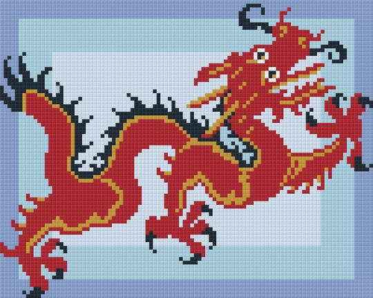 Dragon Four [4] Baseplate PixelHobby Mini-mosaic Art Kit