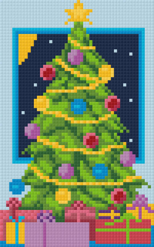 Christmas Tree Two [2] Baseplate PixelHobby Mini-mosaic Art Kit