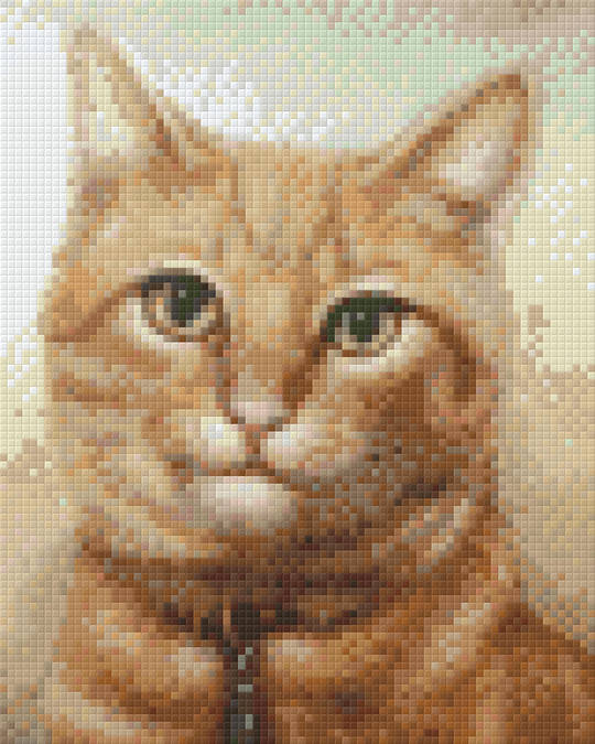 Yellow Tabby Four [4] Baseplate PixelHobby Mini-mosaic Art Kit