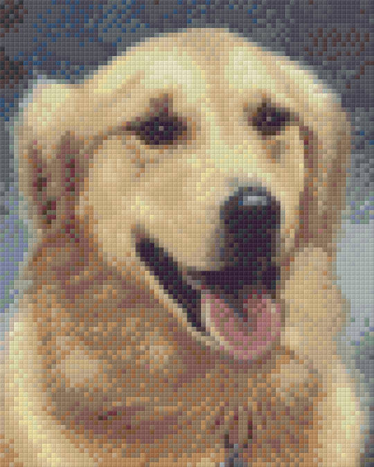 Golden Retriever Four [4] Baseplate PixelHobby Mini-mosaic Art Kit