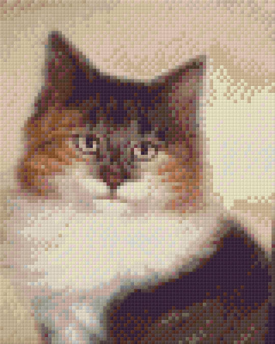 Long Haired Calico Cat Four [4] Baseplate PixelHobby Mini-mosaic Art Kit