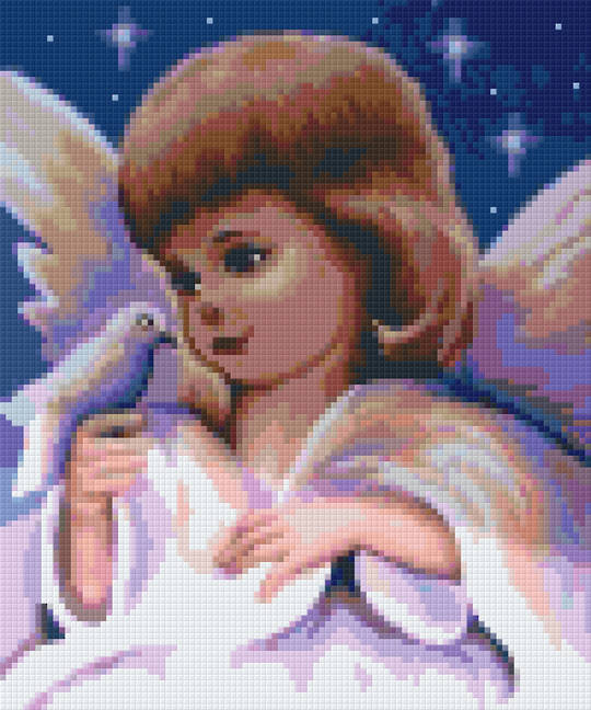 Angel- Love Needs Patience Six [6] Baseplate PixelHobby Mini-mosaic Art Kits