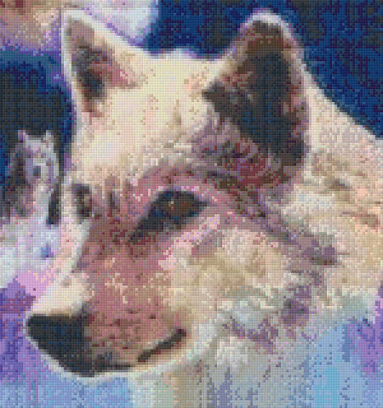 Wolf Guide Twelve [12] Baseplate PixelHobby Mini-mosaic Art Kit