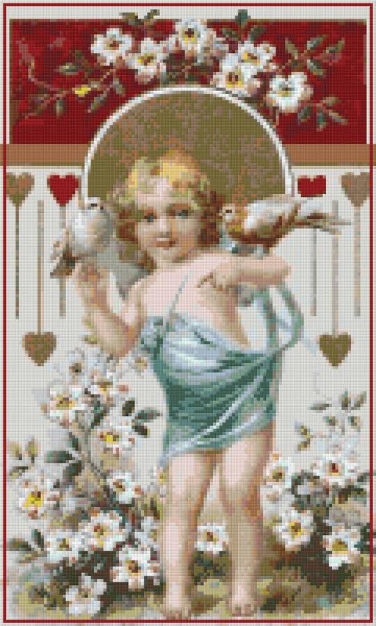 Cupid Twelve [12] Baseplate PixelHobby Mini-mosaic Art Kit