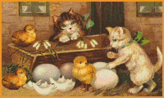 Living Easter Eggs Twelve [12] Baseplate PixelHobby Mini-mosaic Art Kit