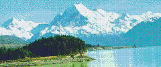 Mt. Cook Twelve [12] Baseplate PixelHobby Mini-mosaic Art Kit