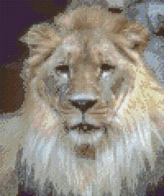 Lion Six [6] Baseplate PixelHobby Mini-mosaic Art Kits