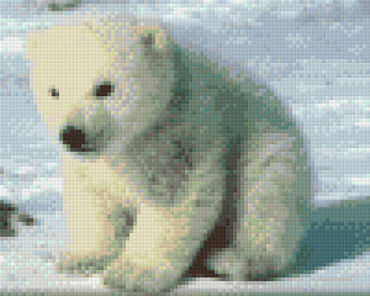 Baby Polar Bear Four [4] Baseplate PixelHobby Mini-mosaic Art Kits