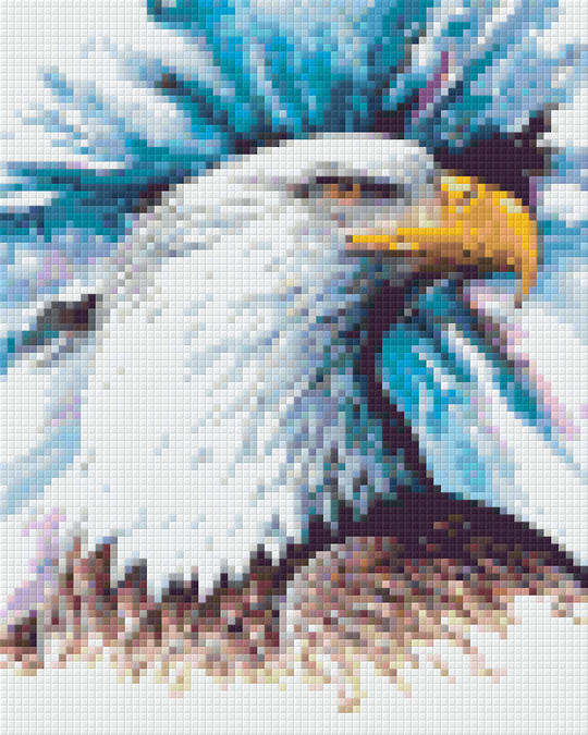 Eagle Head Four [4] Baseplate PixelHobby Mini-mosaic Art Kits