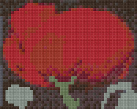 Red Poppy One [1] Baseplate PixelHobby Mini-mosaic Art Kits