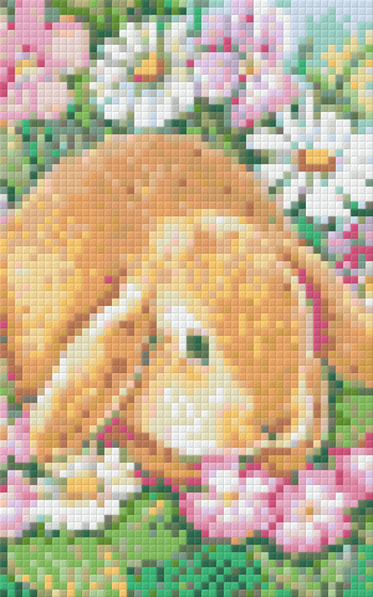 Summer Bunny Two [2] Baseplate PixelHobby Mini-mosaic Art Kit