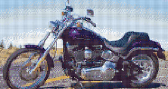 Harley Softail Six [6] Baseplate PixelHobby Mini-mosaic Art Kits
