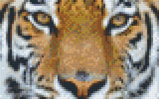 Tiger Head Two [2] Baseplate PixelHobby Mini-mosaic Art Kit