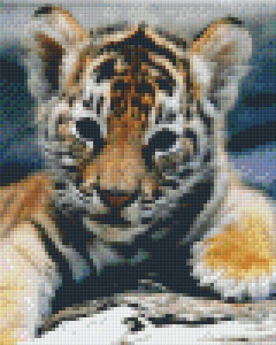 Tiger Cub Four [4] Baseplate PixelHobby Mini-mosaic Art Kits