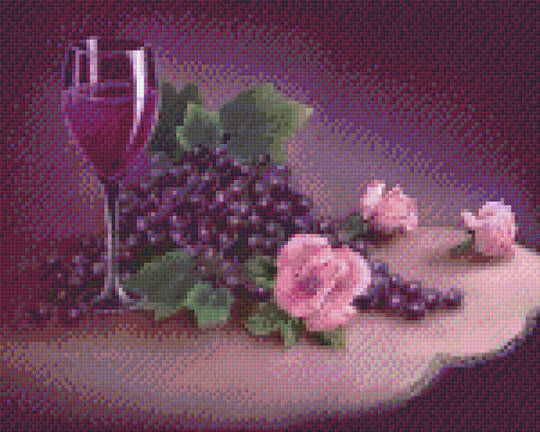 Wine And Roses Nine [9] Baseplate PixelHobby Mini-mosaic Art Kits