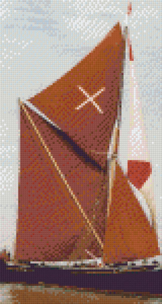Ena [Tall Ship] Six [6] Baseplate PixelHobby Mini-mosaic Art Kits