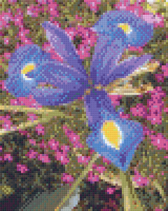 Iris And Pinks Four [4] Baseplate PixelHobby Mini-mosaic Art Kits