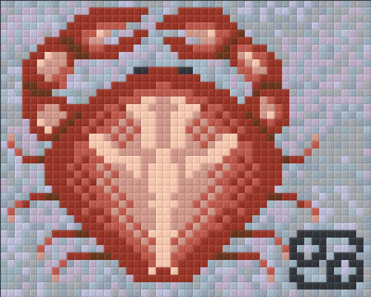 Cancer Zodiac Sign One [1] Baseplate PixelHobby Mini-mosaic Art Kits