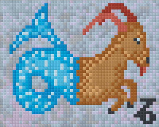 Capricorn Zodiac Sign One [1] Baseplate PixelHobby Mini-mosaic Art Kits