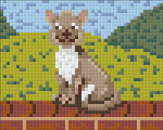 Fluffy The Farmyard Cat One [1] Baseplate PixelHobby Mini-mosaic Art Kits