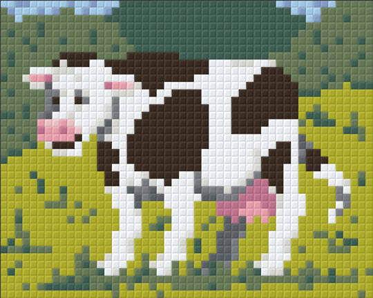 Daisy The Farmyard Cow One [1] Baseplate PixelHobby Mini-mosaic Art Kits