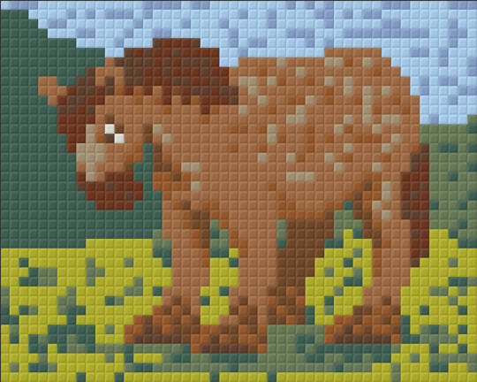 Horace The Farmyard Horse One [1] Baseplate PixelHobby Mini-mosaic Art Kits