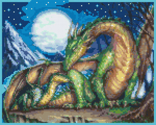 Dragon Mom Nine [9] Baseplate PixelHobby Mini-mosaic Art Kits