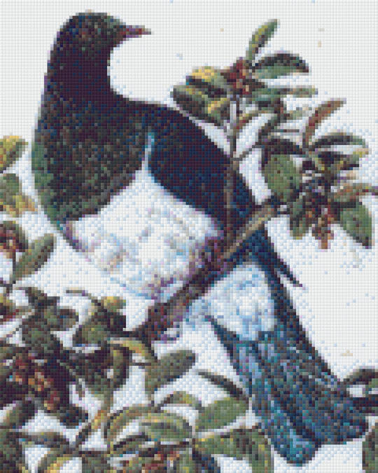Wood Pigeon Nine [9] Baseplate PixelHobby Mini-mosaic Art Kits