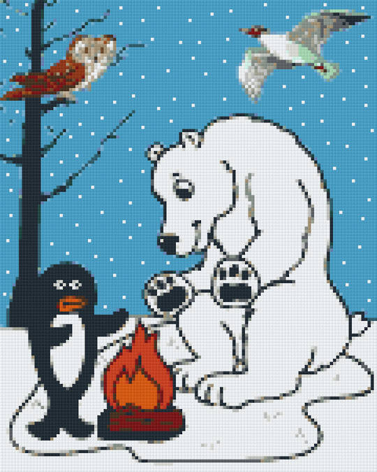 Winter Conversation Nine [9] Baseplate PixelHobby Mini-mosaic Art Kits
