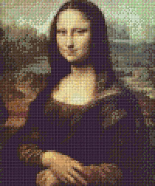 Mona Lisa Six [6] Baseplate PixelHobby Mini-mosaic Art Kits